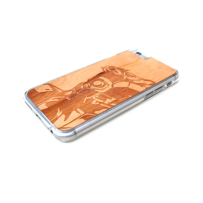 TIMBER Wood Skin Case (iPhone, Samsung Galaxy) : Star Lord Edition