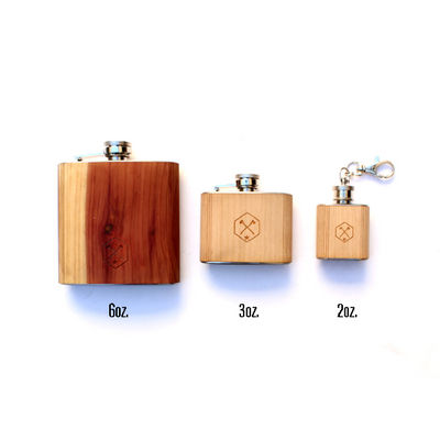 TIMBER Wood Skin 3oz. Mini Flask