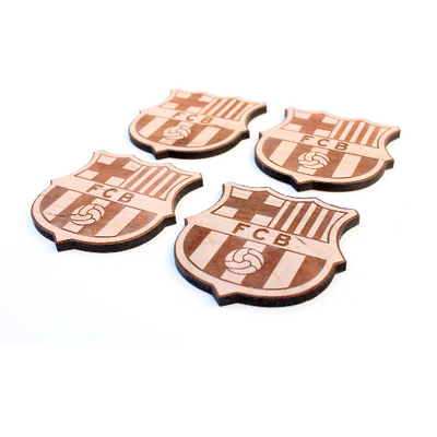 4pc. Club Football Coasters