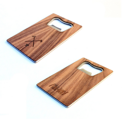 TIMBER Wood Skin Wallet Bottle Opener