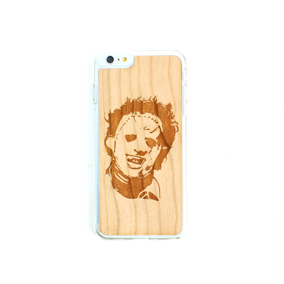 TIMBER Wood Skin Case (iPhone, Samsung Galaxy) : Leatherface Edition