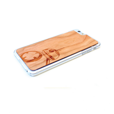 TIMBER Wood Skin Case (iPhone, Samsung Galaxy) : Force Awakens BB-8