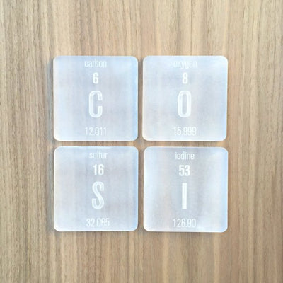 B O U Rb O N - Periodic Table Coasters