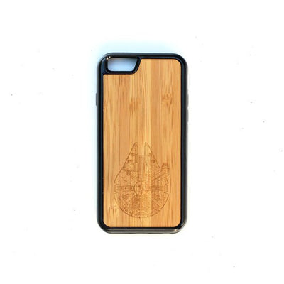 TIMBER Wood Skin Case (iPhone, Samsung Galaxy) : Millennium Falcon Edition
