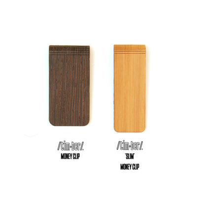 TIMBER 'Slim' Wood Skin Money Clip