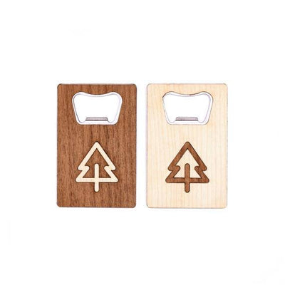 TIMBER Wood Skin Wallet Bottle Opener: Evergreen Edition