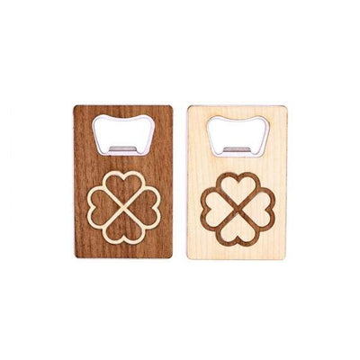 TIMBER Wood Skin Wallet Bottle Opener: Clover Edition