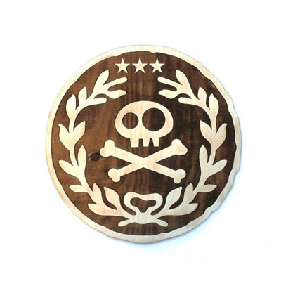 "12""x12"" Neverland Wood Doubloon Wall Art"
