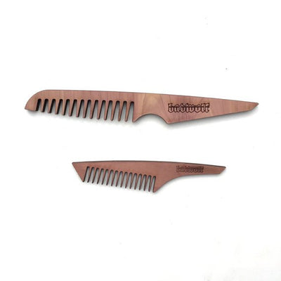 BadWolf 'Butcher' Cedar Beard Comb