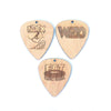 6pc. Laser Cut Plywood Coasters: Guitar Picks