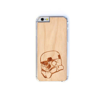TIMBER Wood Skin Case (iPhone, Samsung Galaxy) : Stormtrooper Edition