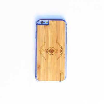 TIMBER Wood Skin Case (iPhone, Samsung Galaxy) : Tie Fighter Edition