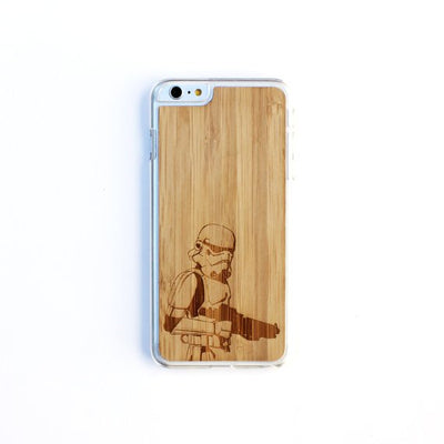 TIMBER Wood Skin Case (iPhone, Samsung Galaxy) : Storm Trooper Edition