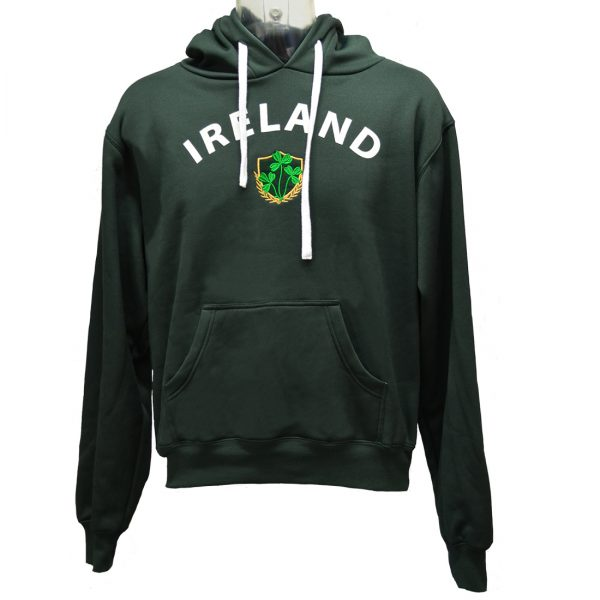 Lansdowne Bottle Green Ireland Shamrock Crest Hoodie - TheIrishShop