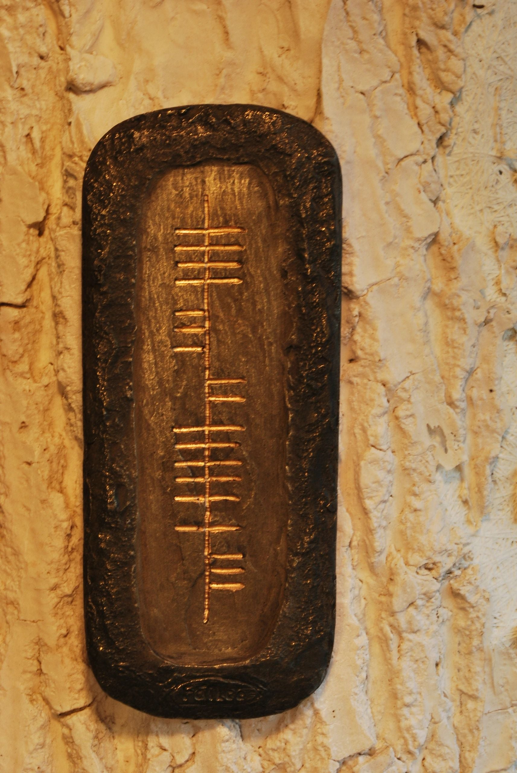 OGOWNA OGHAM WALL PLAQUE, FAILTE WHICH MEANS WELCOME IN IRISH - TheIrishShop