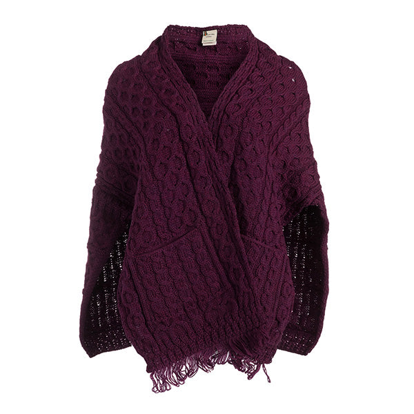 Merino Knit Ladies Wrap With Pockets - TheIrishShop