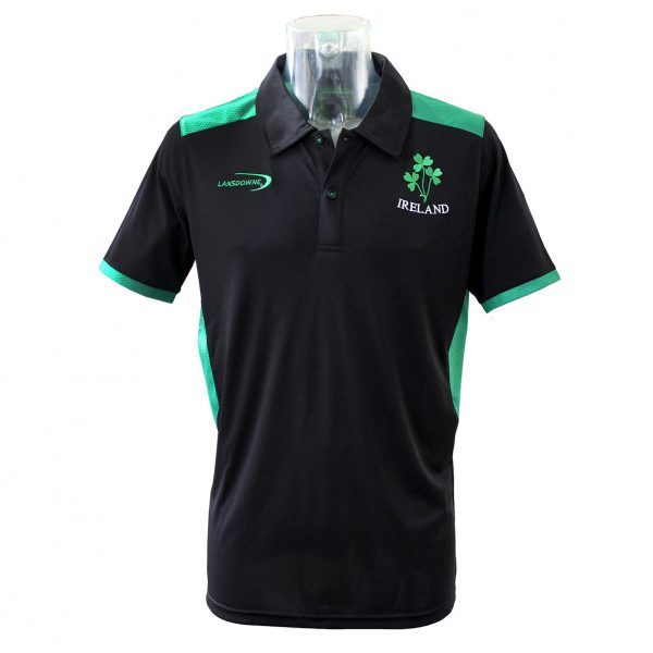 Lansdowne Black Ireland Performance Polo - TheIrishShop