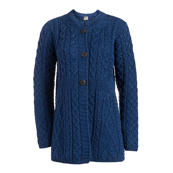 Merino Wool A Line Cardigan - TheIrishShop