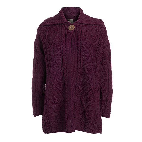 Merino Long Cardigan Single Button - TheIrishShop