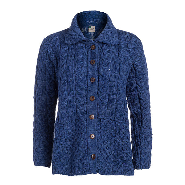 Honeycomb Ladies Wool Cardigan - TheIrishShop