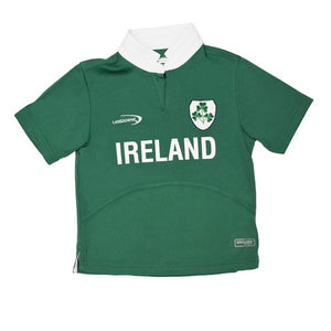 Lansdowne Green Ireland Shamrock Performance Short Sleeve Kids Rugby Shirt