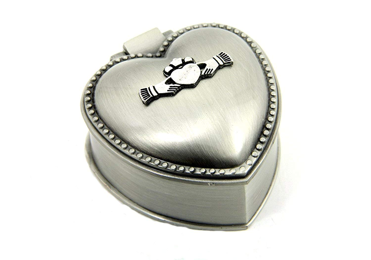 Claddagh Ring Box | Irish Pewter | Mullingar - TheIrishShop