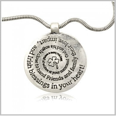 Irish Blessing Medallion Necklace