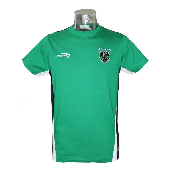 Lansdowne Emerald Green Ireland Crest T-Shirt - TheIrishShop