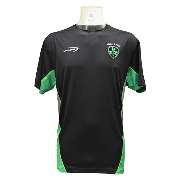 Black Ireland Shamrock Men's Performance T Shirt - TheIrishShop