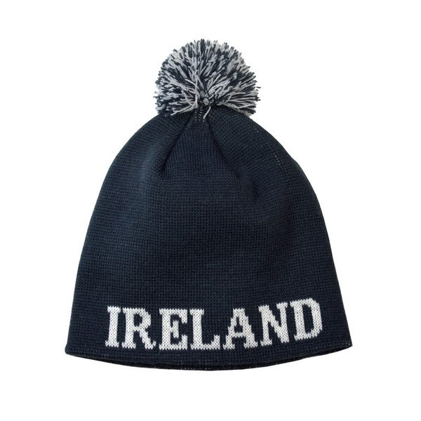 Bottle Green Ireland Bobble Knit Hat - TheIrishShop