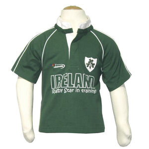 Green Ireland Rugby Star in Training Baby Rugby Shirt