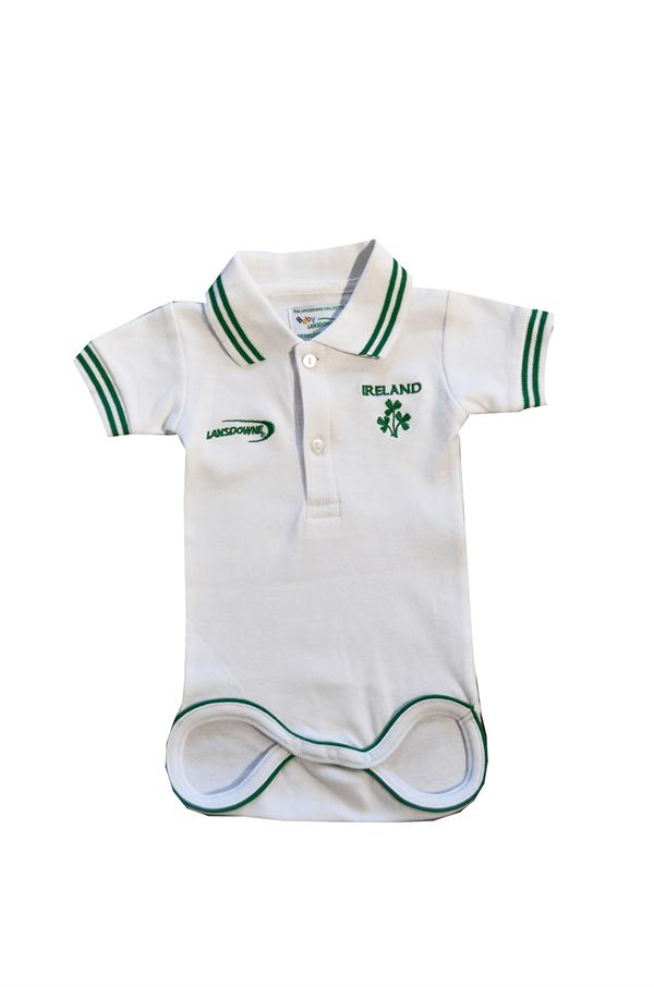 White Ireland Baby Polo Vest - TheIrishShop