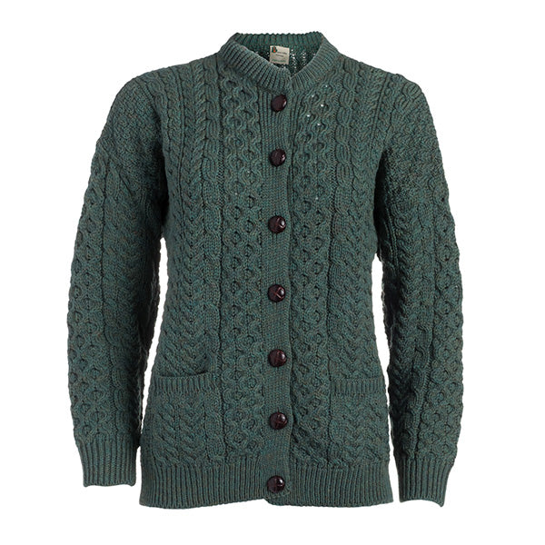 Ladies Merino Wool Lumber Cardigan