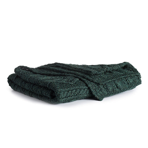 Image of Irish Cable Wool Throw