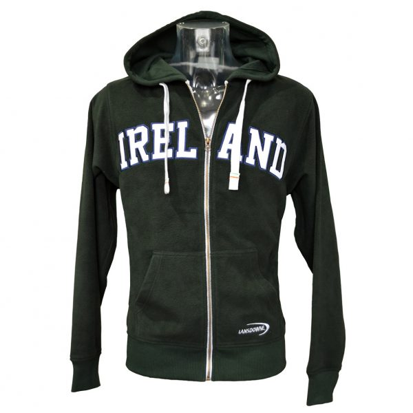 Lansdowne Bottle Green Ireland Full Zip Fleece Hoodie - TheIrishShop