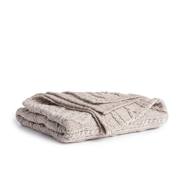 Irish Cable Wool Throw - TheIrishShop