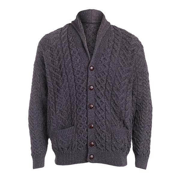 Men's Patchwork Shawl Collar Cardigan - TheIrishShop