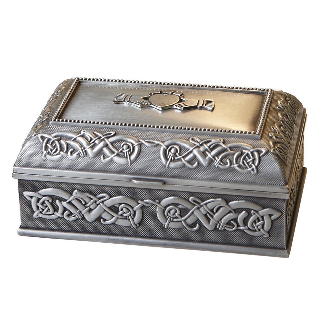 Claddagh Jewellery Box | Irish Pewter | Mullingar - TheIrishShop