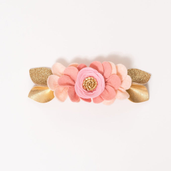 BUBBLEGUM PINK OMBRE // felt flower pixie crown headband