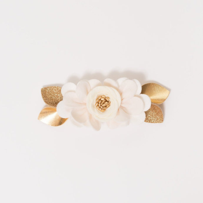 IVORY OMBRE // felt flower pixie crown headband