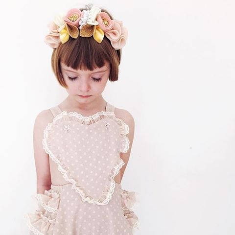 Blush, Pale Pink + Cream // Felt Flower Mini Crown
