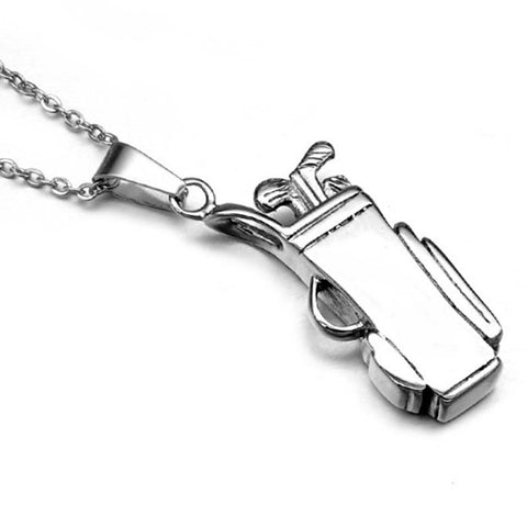 Pendant necklace nu haus store golf bag pendant necklace stainless steel sports necklace bodybuilding gym necklace golf sports jewelry 23in aloadofball Images