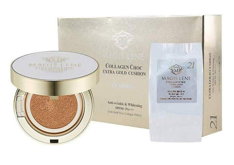 MAGIS LENE Collagen Choc Extra Gold Cushion SPF 50 PA++ with Refill Set