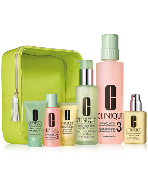 Clinique Great Skin Home & Away Set - For Oilier Skin