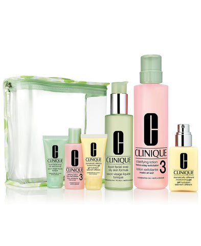 Clinique Great Skin Everywhere Gift Set - Skin Types 3,4 (for Oilier Skin)