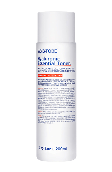 ASIS-TOBE Hyaluronic Essential Toner 200ml - eCosmeticWorld