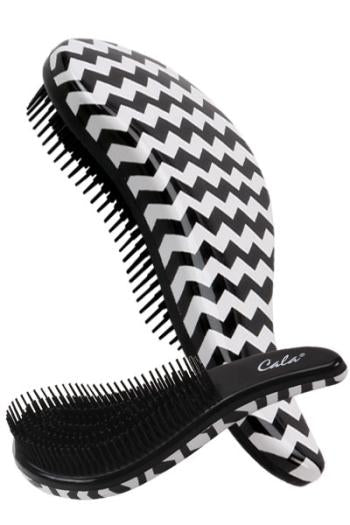 CALA TANGLE FREE HAIR BRUSH BLACK WHITE Zigzag