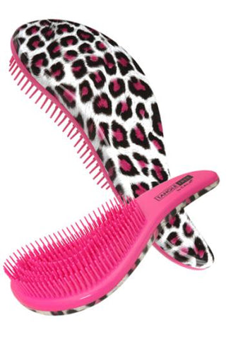 CALA TANGLE FREE HAIR BRUSH PINK Leopard