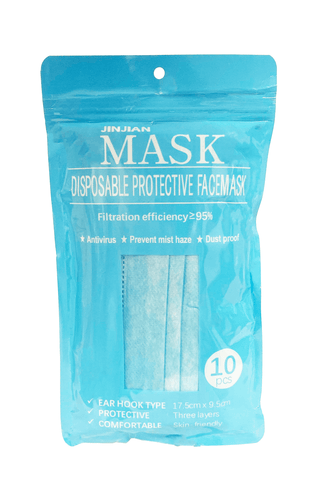 Disposable Protective Face Mask 10 Pack (Dental Mask)