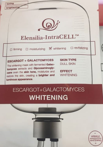 ELENSILIA INTRACELL ESCARGOT GALACTOMYCES WHITENING MASK